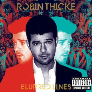 Robin Thicke Blurred Lines CD Cover